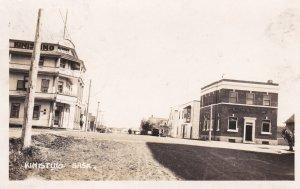 RP: KINISTINO , Saskatchewan , Canada , PU-1928 ; Main Street , dirt