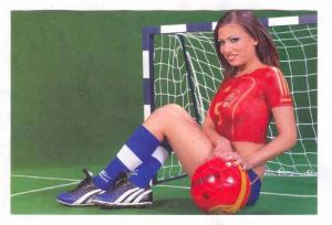 Soccer Girl wearing only body paint, 1990s #33