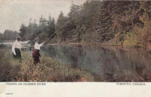 TORONTO, Ontario , 1907 ; Fishing on Humber River