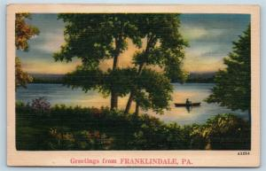 Postcard PA Franklindale Scenic Greetings from Franklindale Pennsylvania #4 M12