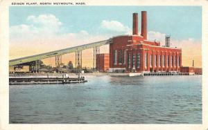 North Weymouth Massachusetts birds eye view Edison Plant antique pc Y12875