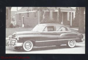 1950 BUICK SUPER 4 DOOR SEDAN VINTAGE CAR DEALER ADVERTISING POSTCARD CARS