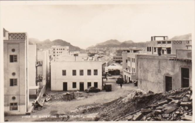 Yemen Aden A View Of Entering Into Crater Steamer Point Real Photo