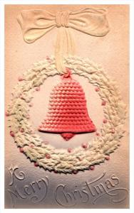 Christmas ,  Heavy Embossed Bell inside Wreath