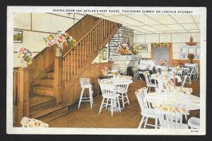 Doc Seylers Rest House Dining Room Lincoln Unused c1930s
