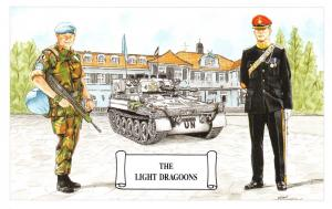 Postcard The Light Dragoons at Schloss Bredebeck, Germany by Geoff White