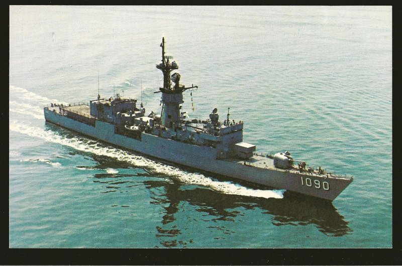 USS Ainsworth (FF-1090) US Navy Frigate 1970's Color Postcard Unposted