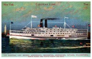 New York  Steamer Kent , Citizen's Line
