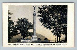 West Point NY, Hudson River, Battle Monument Vintage New York Postcard