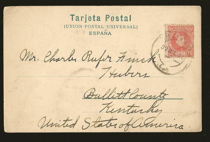 Postmarked 1904 Granada Spain R Garzon UPU Photo Postcard