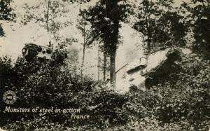 U.S. Military, WWI. France, Monsters of Steel in Action (Tanks)