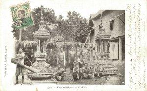 Laos Indochine Fête religieuse Ex Voto 03.77