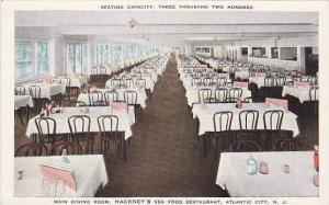 Main Dining Room, Hackney's Sea Food Restaurant, Atlantic City, New Jersey, 0...