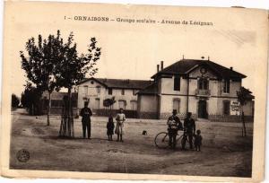 CPA Ornaisons-Groupe scolaire-Avenue de Lézignan (261040)