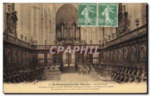 Postcard Old Organ St Maximin la Sainte Baume basilica