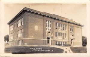 Springfield MN~Diagonal Path to Entrances~New Beaux Arts High School RPPC 1915