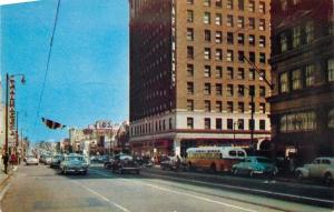 Hollywood CA~Pantages~City Bus~Famous Corner Hollywood and Vine~1953 Postcard