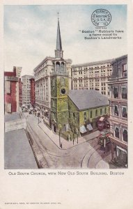 BOSTON, Massachusetts, 1901-1907; Old South Church, With New Old South Building