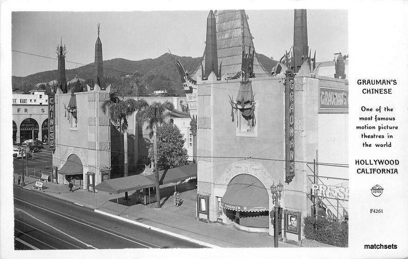 1940s Hollywood California Grauman's Chinese RPPC Real photo Frasher 6781