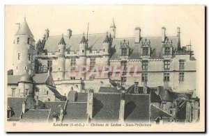 Old Postcard Loches I and The Chateau de Loches Under Prefecture