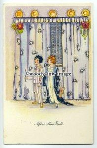 su2244 - After the Ball - Art Deco - artist C E Shand - postcard