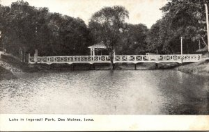 Iowa Des Moines Lake In Ingersoll Park 1910