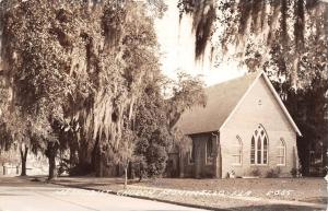 Monticello Florida~Methodist Church in Trees~Spanish Moss~1950 Real Photo~RPPC
