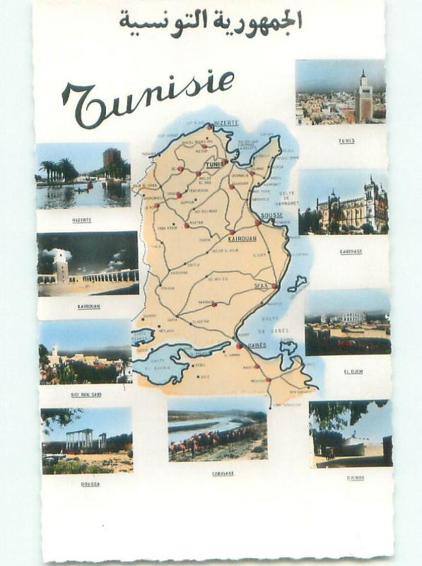 old rppc NICE VIEW Tunisie Tunisia i2826
