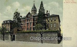 St Mary's Academy Portland OR Writing On Back