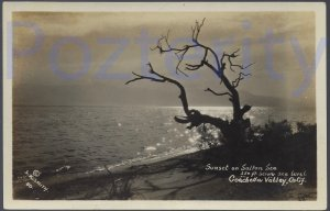SUNSET ON THE SALTON SEA  FEATURED IN THE BOOK POSTCARDS FROM MECCA