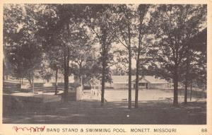 Monett Missouri~Band Stand & Swimming Pool Tucked Away in the Trees~B&W Linen PC
