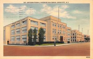 International Business Machines, Endicott, N.Y., Early Linen Postcard, Used
