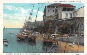 Panama City Panama Waterfront Scene Antique Postcard K79738