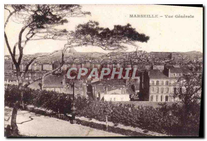 Postcard Old Marseille Vue Generale