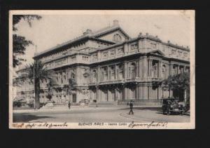 074142 Argentina Buenos Aires Teatro Colon car Vintage PC