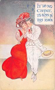 Tyrrell~Victorian Couple~No Crime to Kiss in This Town~Big Red Hat~Boater~1908