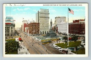 Cleveland OH-Ohio, Business Section, Vintage Postcard