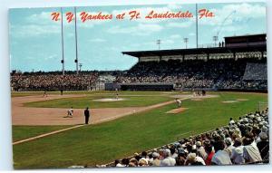 *1960s NY New York Yankees Spring Training Ft. Lauderdale Florida Postcard C73