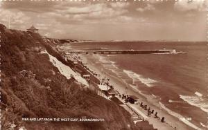 Pier and Lift from the West Cliff Promenade Beach Bournemouth
