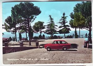 P796  Continental size card approx (4 X 6) 1967 view terni italy very small car