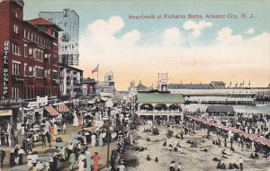 Boardwalk At Richards Baths Atlantic City New Jersey 1914