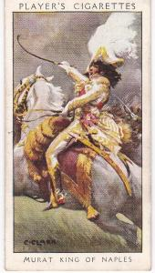 Cigarette Card Player's Dandies No 23 Murat King of Naples : Beau Sabreur