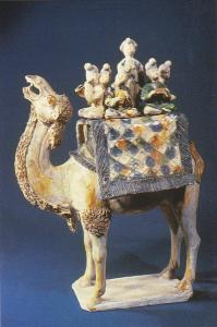 Chinese Relics Camel With Glazed Pottery Tang Dynasty Splendid China Kissimme...