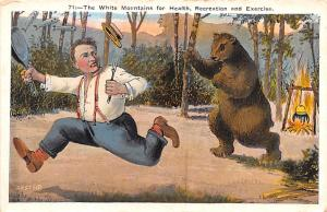 Bear Post Card Old Vintage Antique #71 The White Mountains for Health Recreat...