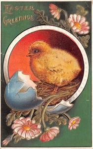 Post Card Old Vintage Antique Easter Greetings Unused