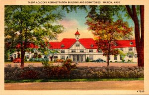 Massachusetts Marion Tabor Academy Administration Building and Dormitories 1956