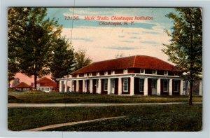 Chautauqua NY, Music Studio, Chautauqua Institution, New York Vintage Postcard