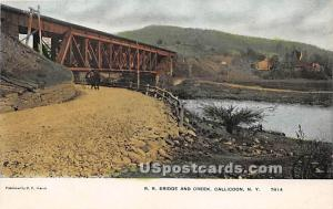 RR Bridge and Creek Callicoon NY Unused
