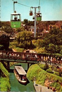 Texas Six Flags Over Texas River Boats and Astrolift 1967