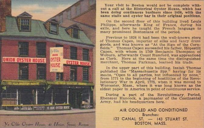 Massachusetts Boston Union Oyster House